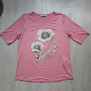 Betty Barlay : NEU Kurzarmshirt rosa mit Rosen Größe L