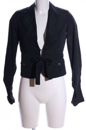 Betty Blue Korte blazer zwart casual uitstraling