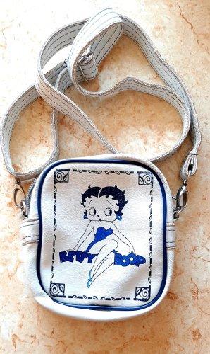 Betty Boop Gekruiste tas wit-blauw