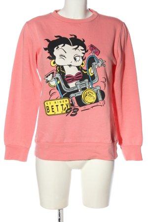 Betty Boop Sweatshirt roze prints met een thema casual uitstraling