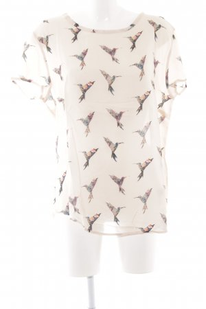 Betty & Co Kurzarm-Bluse Animalmuster Casual-Look