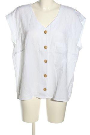 Betty & Co Blusa senza maniche bianco stile casual