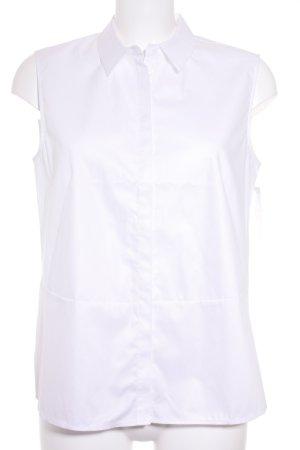 Betty & Co ärmellose Bluse weiß klassischer Stil