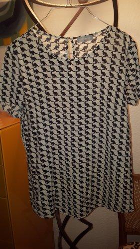 Betty & Co Short Sleeved Blouse black-white