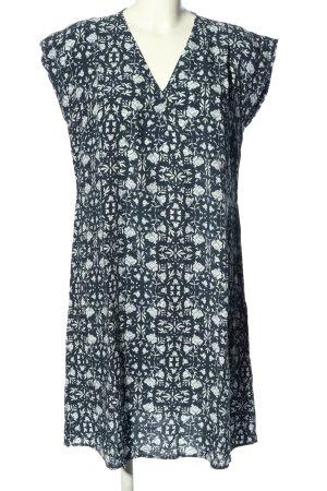 Betty & Co Blusenkleid blau-weiß Allover-Druck Casual-Look