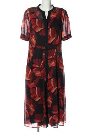 Betty & Co Blusenkleid rot-schwarz Blumenmuster Casual-Look