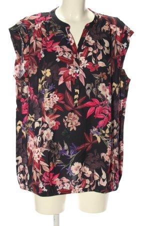 Betty & Co Top koszulowy czarny-różowy Na całej powierzchni