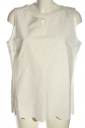 Betty & Co Top koszulowy w kolorze białej wełny Wyhaftowany logo