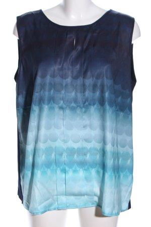 Betty & Co Blusentop schwarz-blau Motivdruck Casual-Look