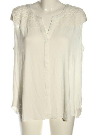 Betty & Co Top koszulowy biały W stylu casual