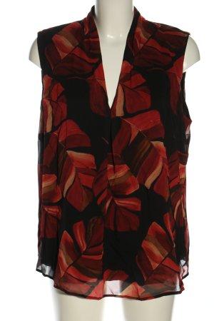 Betty & Co Blusa nero-rosso stampa integrale stile casual