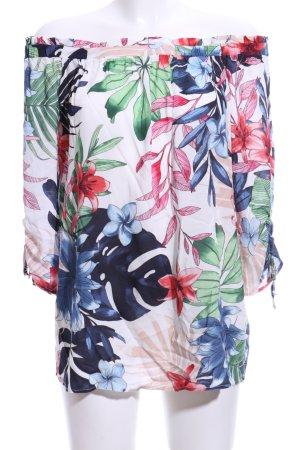 Betty & Co Blouse Carmen motif de fleur style décontracté