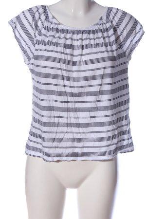 Betty & Co Carmen Shirt white-black striped pattern casual look
