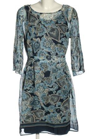 Betty & Co Chiffon Dress blue-light grey allover print casual look