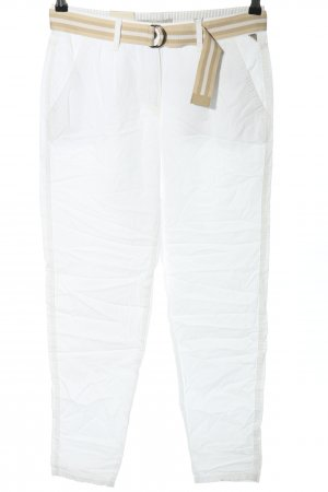 Betty & Co Pantalon chinos blanc style décontracté