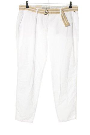 Betty & Co Chinosy biały W stylu casual
