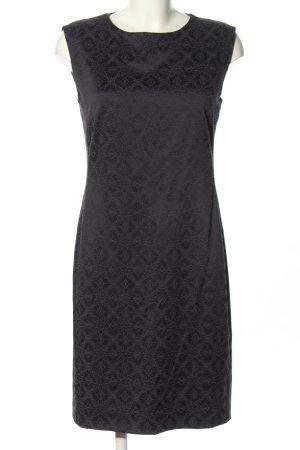 Betty & Co Sukienka etui czarny-jasnoszary Na całej powierzchni