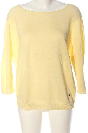 Betty & Co Feinstrickpullover blassgelb Casual-Look