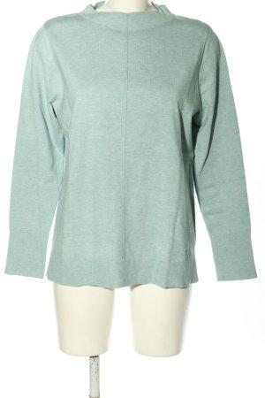 Betty & Co Fine Knit Jumper light grey flecked elegant