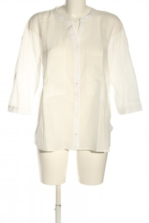 Betty & Co Hemdblouse wolwit-wit gestreept patroon casual uitstraling