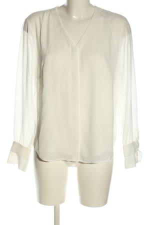 Betty & Co Koszulowa bluzka w kolorze białej wełny W stylu casual