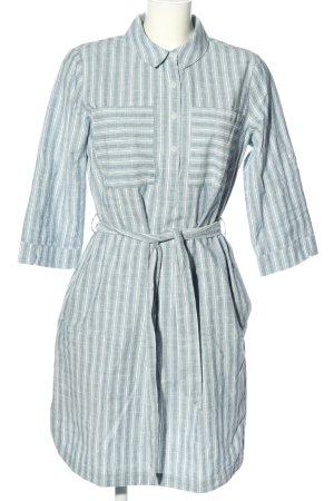 Betty & Co Abito blusa camicia blu-bianco motivo a righe stile casual