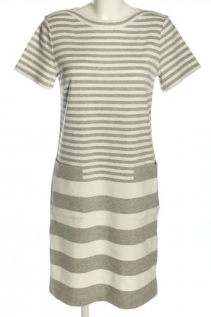 Betty & Co Abito jersey bianco-grigio chiaro puntinato stile casual