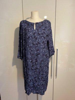 Betty & Co. Kleid Gr.44 Gr.XL Blumenkleid blau lila