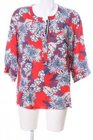 Betty & Co Kurzarm-Bluse Allover-Druck Casual-Look