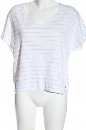 Betty & Co Short Sleeved Blouse white-brown striped pattern casual look
