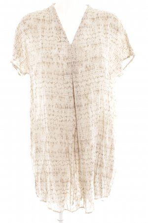 Betty & Co Shortsleeve Dress oatmeal-grey brown viscose
