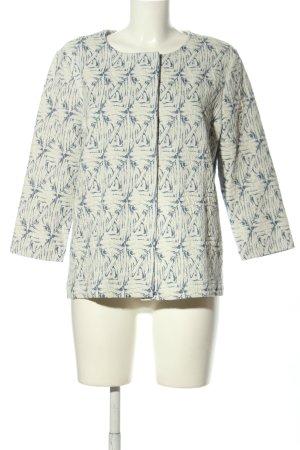 Betty & Co Kurzjacke wollweiß-blau abstraktes Muster Casual-Look