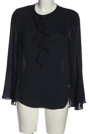 Betty & Co Blouse à manches longues noir élégant