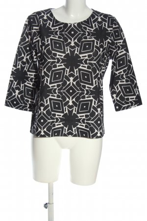 Betty & Co Long Sleeve Blouse white-black allover print casual look