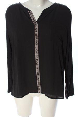 Betty & Co Bluzka z długim rękawem czarny-biały W stylu casual