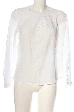 Betty & Co Blouse à manches longues blanc cassé style décontracté