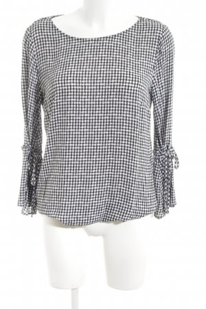 Betty & Co Blouse à manches longues blanc-noir imprimé allover