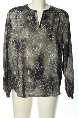 Betty & Co Long Sleeve Blouse light grey-white abstract pattern casual look
