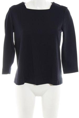 Betty & Co Langarm-Bluse dunkelblau Business-Look