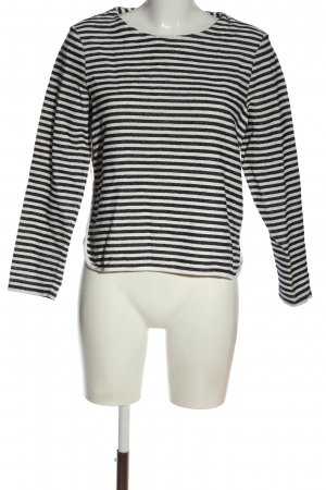 Betty & Co Long Sleeve Blouse white-black striped pattern casual look
