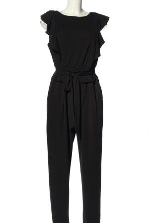 Betty & Co Langer Jumpsuit noir style décontracté