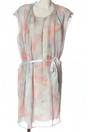 Betty & Co Long Blouse light grey-pink abstract pattern casual look