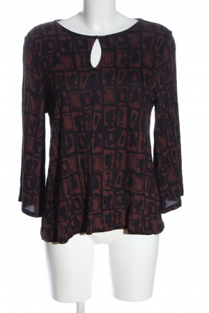 Betty & Co Longsleeve black-brown abstract pattern casual look
