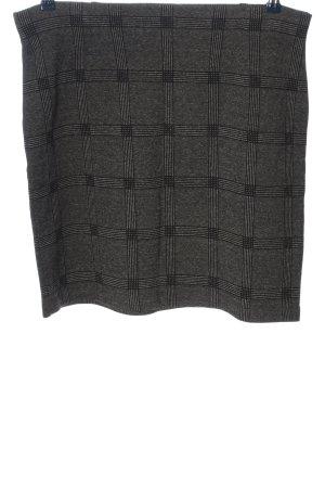 Betty & Co Mini-jupe gris clair-noir motif à carreaux style décontracté