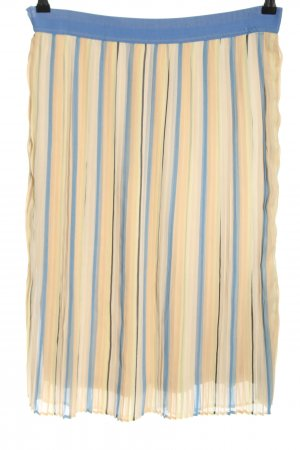 Betty & Co Pleated Skirt cream-blue striped pattern casual look