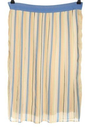 Betty & Co Gonna pieghettata crema-blu motivo a righe stile casual