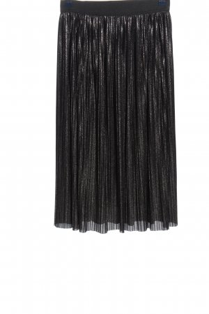 Betty & Co Pleated Skirt black flecked casual look