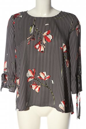 Betty & Co Langarm-Bluse Allover-Druck Casual-Look