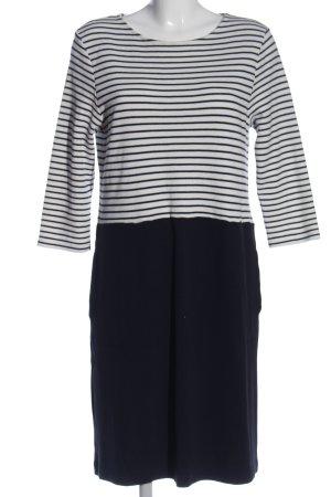 Betty & Co Sweater Dress dark blue-white striped pattern casual look