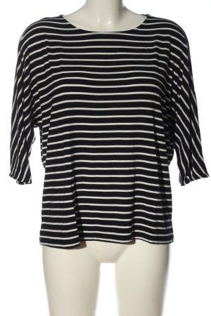 Betty & Co Gestreept shirt zwart-wit volledige print casual uitstraling